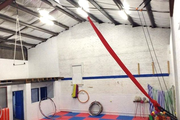 The family-run Katoomba circus school is pictured