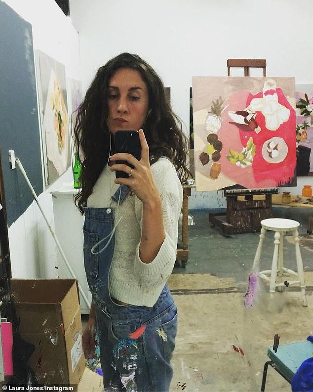 Award-winning artist Laura Jones' (pictured) valuable painting has been returned after it was allegedly stolen last week