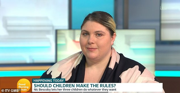 Nic Bescoby shares three children George, 8, and Ellie, 7, and young Amy with her husband, and appeared on GMB this morning to reveal her approach of 'gentle parenting'