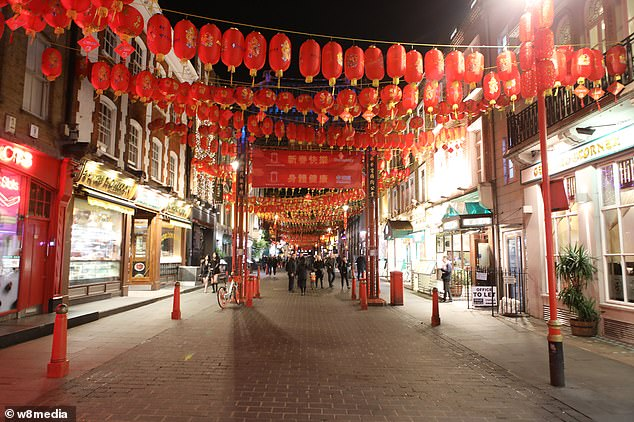 With streets of the central-London venue usually fit to burst with visitors looking to sample the variety of restaurants or browse the Chinese- run super markets, last night was a stark contrast