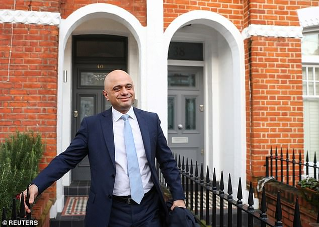 The shake-up saw Sajid Javid, pictured leaving his London home this morning, quit the government as he refused a demand from Dominic Cummings to sack all of his aides