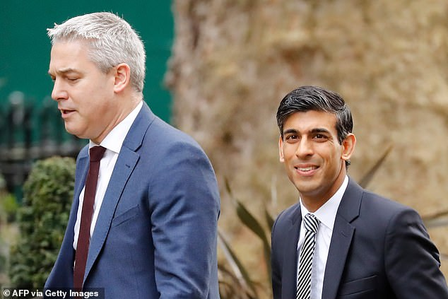 Rishi Sunak, pictured right arriving in Downing Street this morning, replaced Mr Javid as Chancellor. Stephen Barclay returned to Cabinet as Chief Secretary to the Treasury