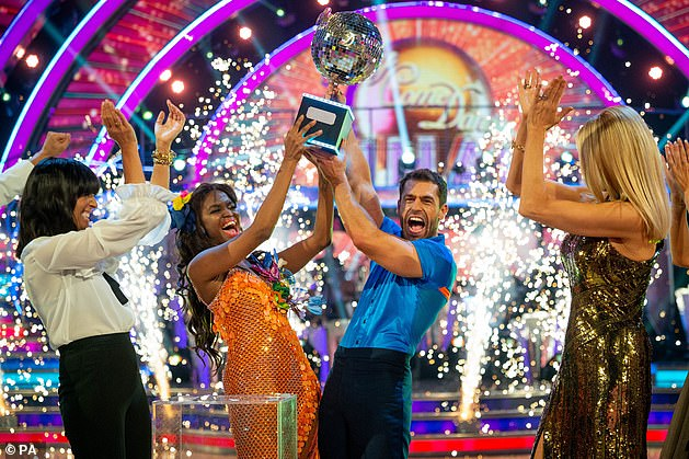 Champions: Kelvin won the Strictly Glitter Ball last year alongside Oti, who's also a judge on The Greatest Dancer