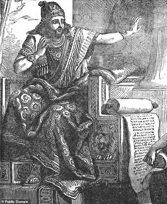 Pictured,King Josiah of Judah