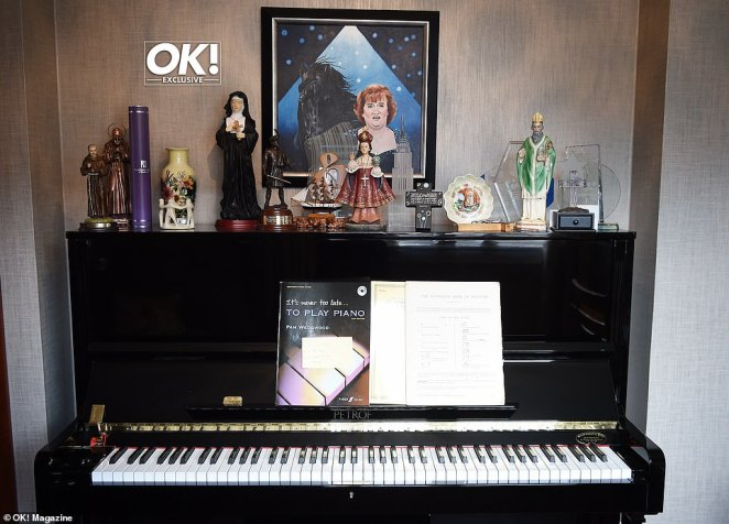 Picturesque:Having grown up in a religious family, Susan's home is covered with plenty of artefacts and small statues