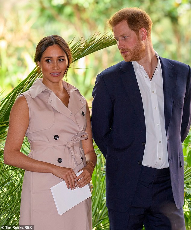 Prince Harry and Meghan Markle, pictured last year, will not return to the UK to celebrate Prince Andrew's 60th birthday - but will send a gift and a video message to be played at his party, a source has claimed
