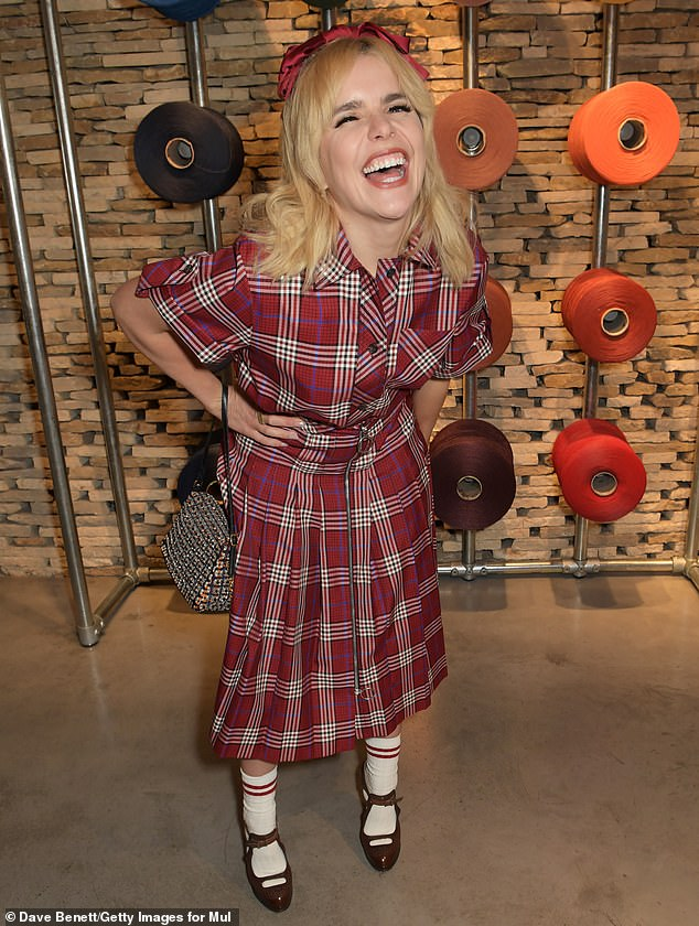 Star-studded: She was among other lovers of the British fashion label to attend the dinner including singer song-writer Paloma Faith