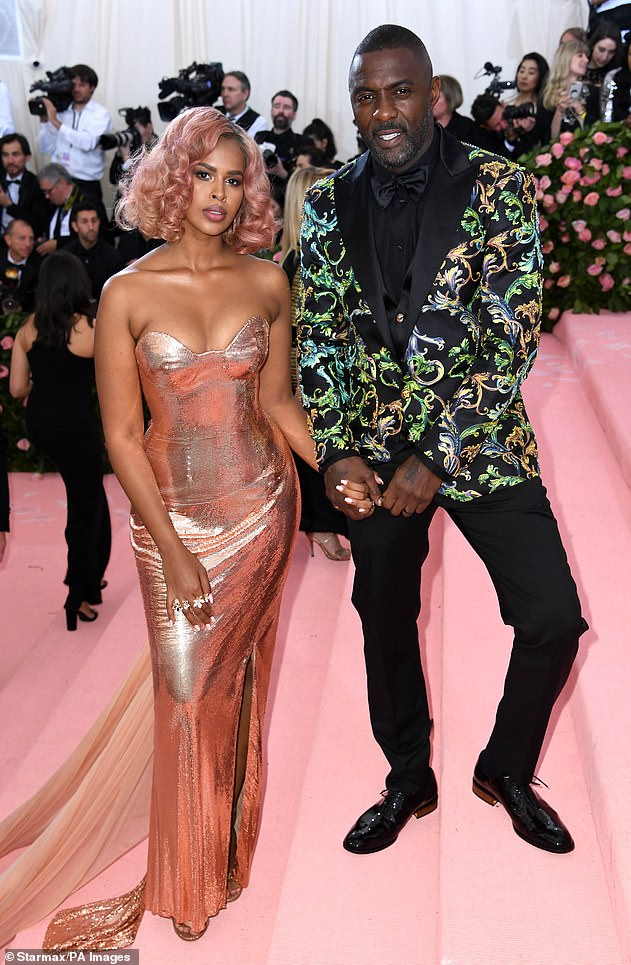 Love: The pair exchanged vows at the Ksar Char Bagh hotel in Marrakesh surrounded by 150 of their nearest and dearest in April 2019 (pictured at the Met Gala in 2019)