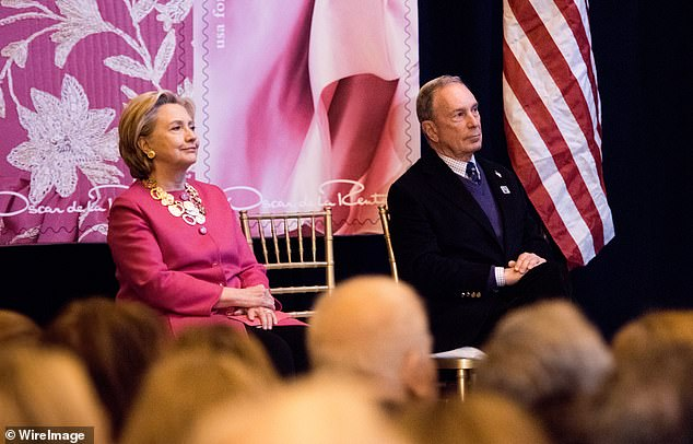Former United States Secretary of State Hillary Clinton and Michael Bloomberg pictured together in New York in 2017
