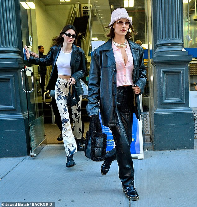 For the girls: On Friday, Bella headed out with her pal Kendall Jenner for a boy-free Valentine's Day out in NYC