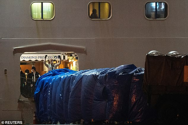 Late Sunday and into the early hours of Monday, Americans who opted to leave were brought off the ship in groups, passing through a makeshift passport control but undergoing no health checks
