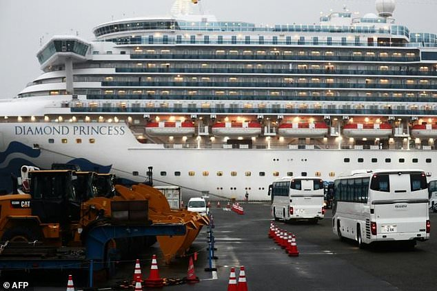 Americans have started leaving the quarantined coronavirus Diamond Princess cruise ship in Japan to board chartered flight home to the United States after the number of new cases diagnosed on the vessel jumped to 355