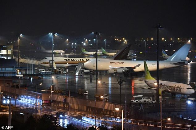Jumbo jets arrived in Japan to evacuate US citizens on board the Diamond Princess cruise ship