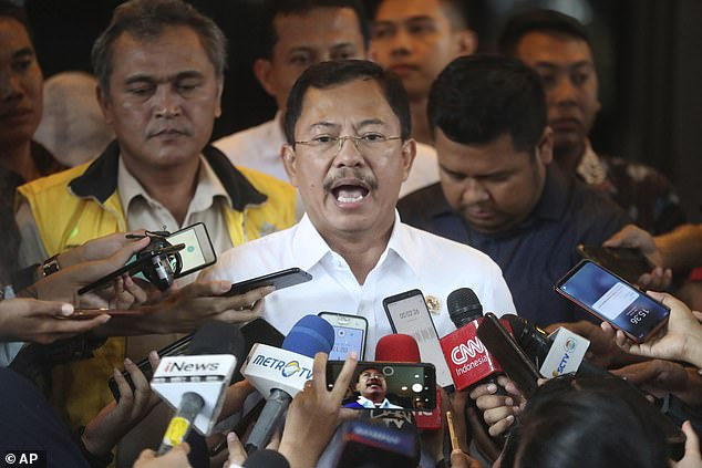 Indonesian health minister Terawan Agus Putranto (pictured) has defended his country's handling of the outbreak. The island nation is yet to report any confirmed cases