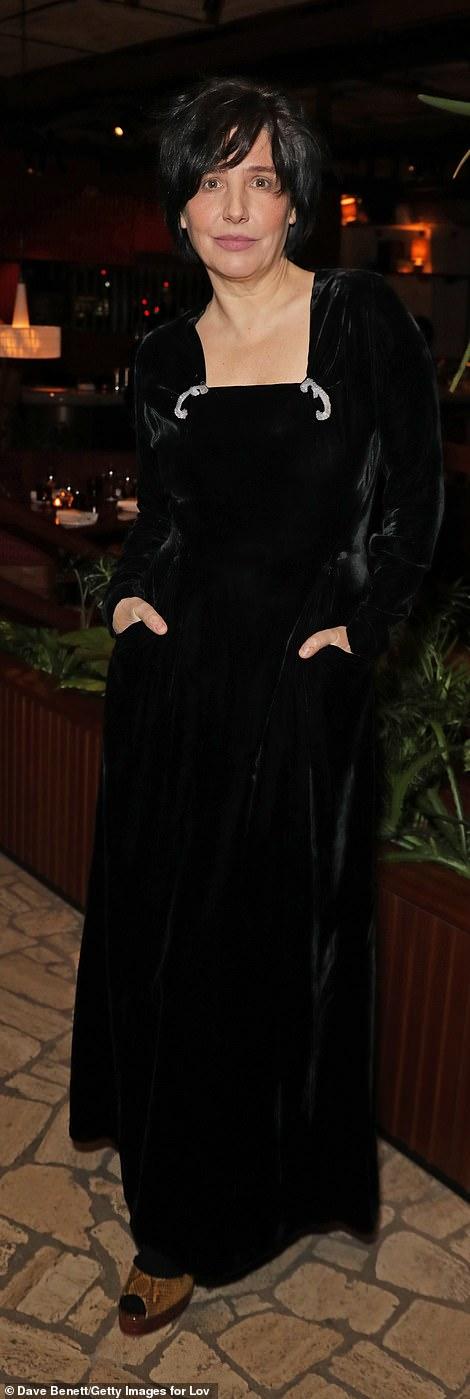 Best in black:Sharleen Spiteri, 52, wore a flowing black long-sleeved dress