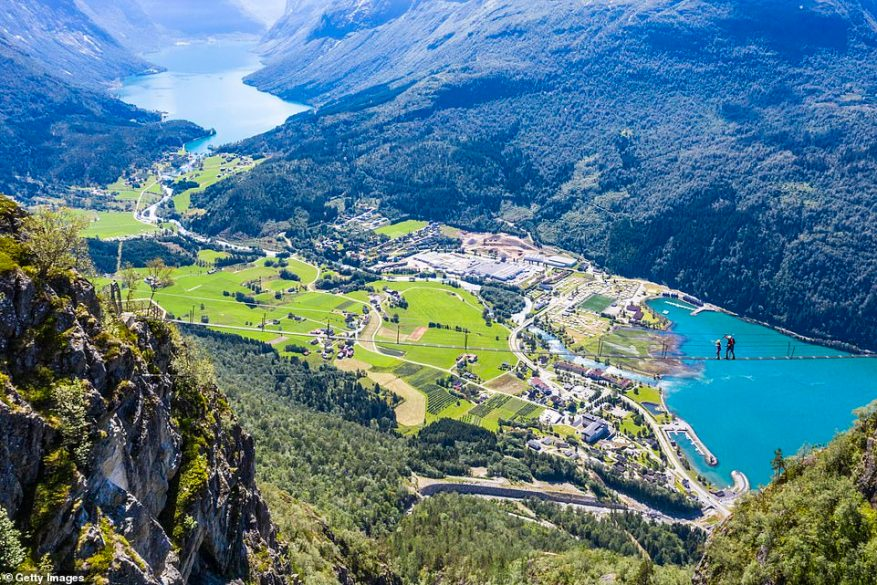 The Via Ferrata Loen(via ferrata is Italian for 'iron path), 2,395 feet above Nordfjord. The suspension bridge is the longest via ferrata in Europe