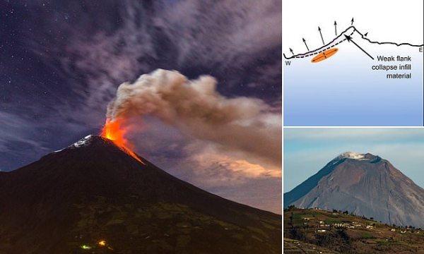 Ecuador volcano heading towards a devastating collapse