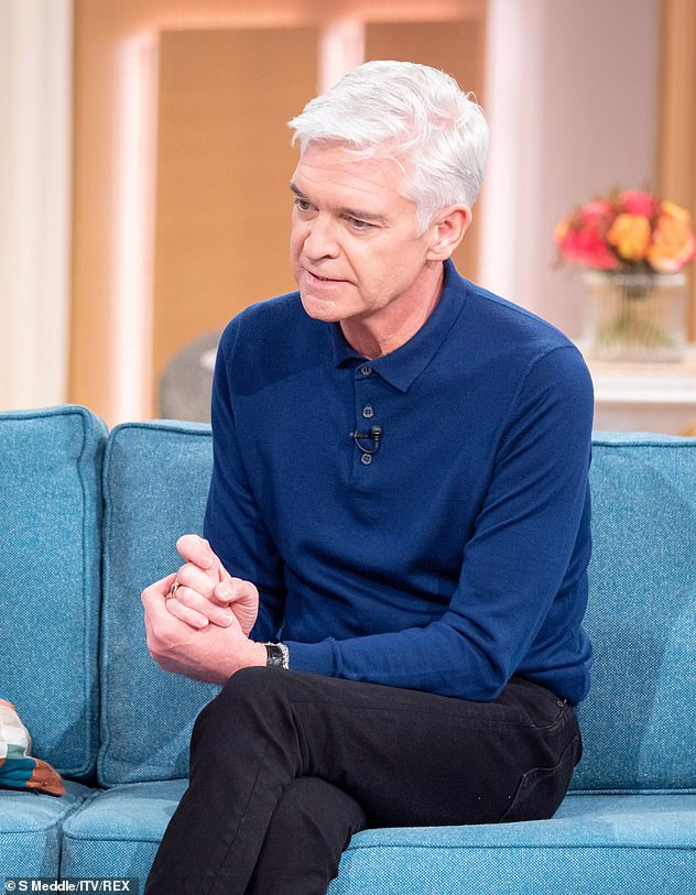 Tough times:Earlier this month, the TV host took to Instagram and appeared on This Morning to confirm he was gay