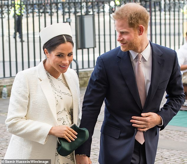 Prince Harry and Meghan arrive for the Commonwealth Day service in London in March 2019