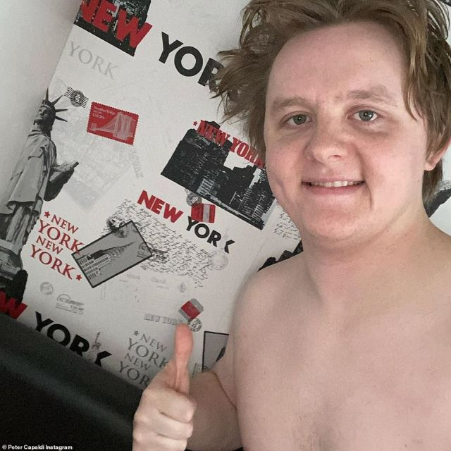 Home: New York wallpaper featured on every wall in the room Lewis has occupied since he was 10-years old