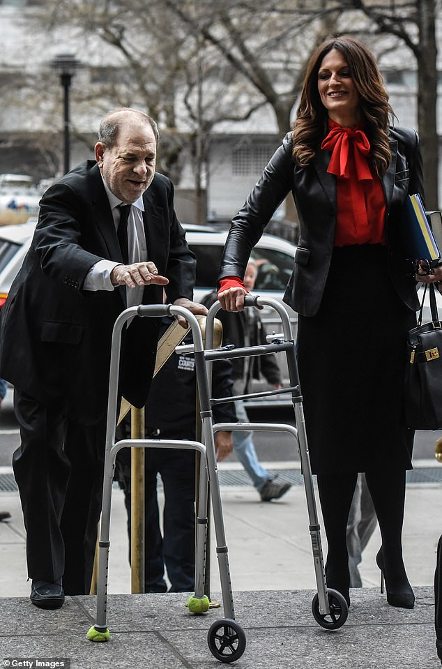 Weinstein's assaults were not random acts of opportunism, a drunken date gone wrong. He had a clear modus operandi. He was a serial abuser, and his targets were groomed over a period of time (Weinstein is pictured with his lawyerDonna Rotunno)