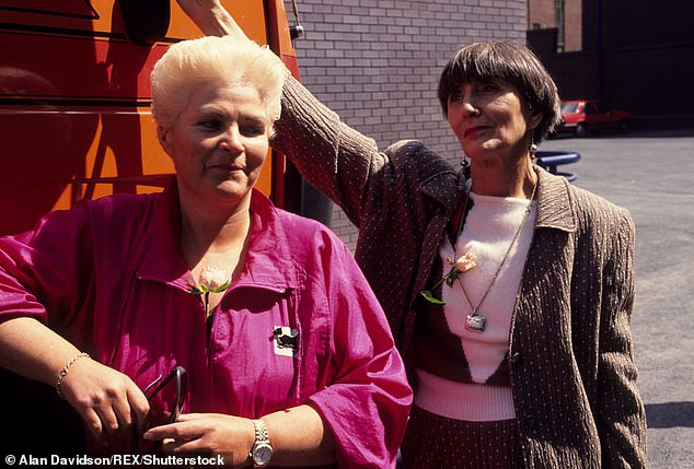 History: Dot left the soap between 1993 and 1997 before she returned to the square while June also took six months off in 2012 to write her autobiography (pictured in 1989)