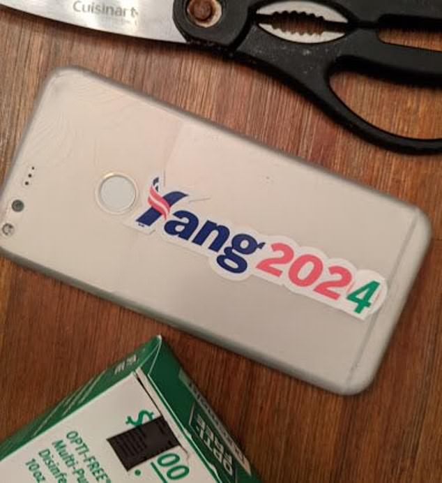 On Twitter today, Andrew Yang, prior Democrat candidacy hopeful, posted a pictured of a 2020 sticker altered to show 2024
