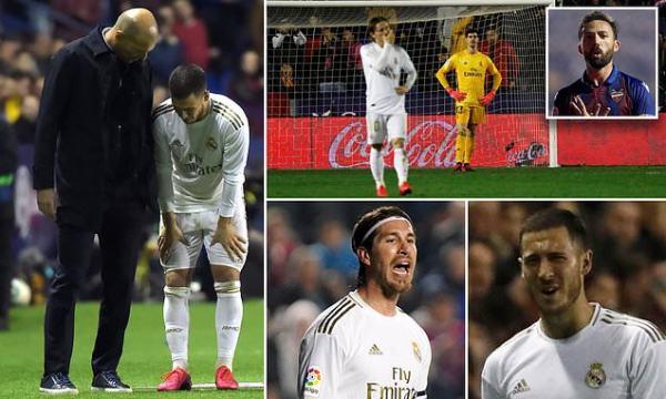 Levante 1-0 Real Madrid: Jose Luis Morales stunner shocks Zidane
