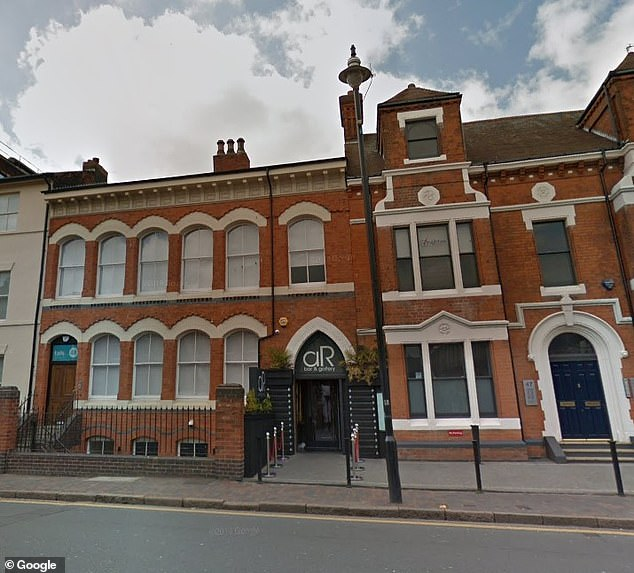 Miss Solanki was inside the Ana Rocha Bar and Gallery in Birmingham (image file in the photo) on Frederick Street with her friends when the group was targeted by a group of Asian men