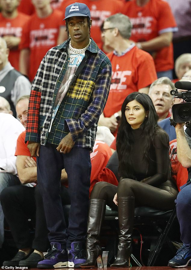 Old school: The two celebrities first began spending time together back in April 2017, when they were spotted at Coachella and later attended a basketball game together; shown in 2018