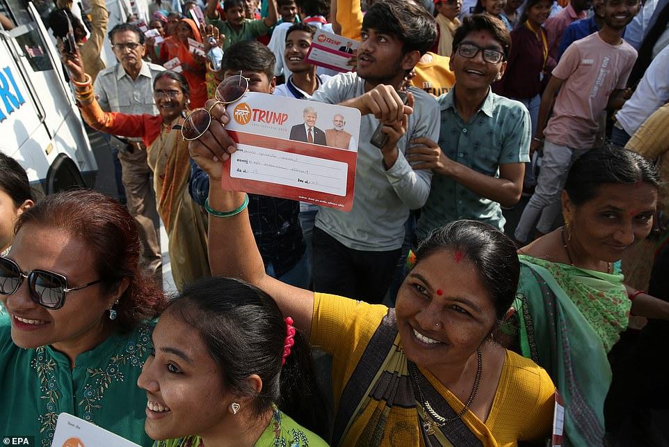 Indian people arriving at stadium