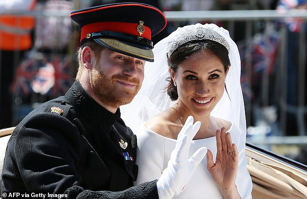 The couple married in 2018 and earlier this year they announced they would be stepping back from their royal duties