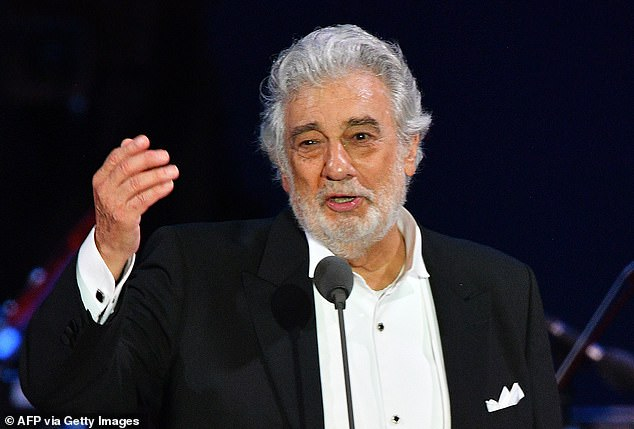 Placido Domingo (pictured last August) has today apologised to the dozens of women who accused him of sexual harassment and said he accepted 'full responsibility'