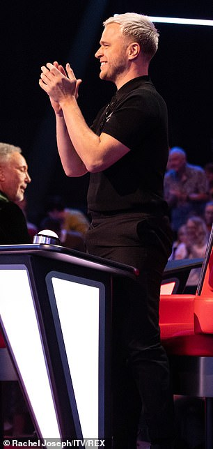 Before: Olly pictured on The Voice last month