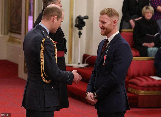Stokes was presented with his OBE by the Duke of Cambridge at Buckingham Palace earlier this year.The Order of the British Empire recognises contributions to the UK across the arts and sciences, charity, public service and the military