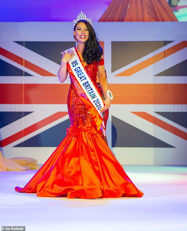 April Banbury, 30, from Hemel Hempsted, Hertfordshire, was crowned Miss GB on Friday, beating out hundreds of other contestants to take home the crown in a glittering ceremony in Leicester