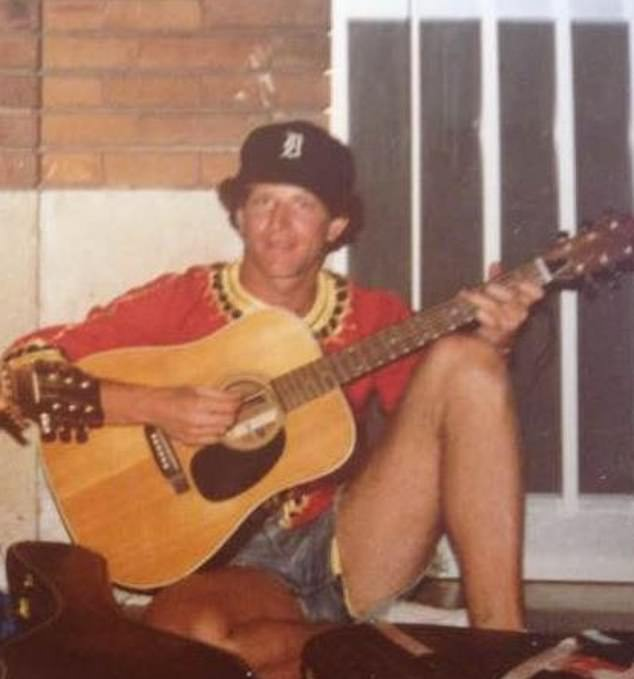 Barahal is pictured in this throwback photo playing the guitar in Switzerland in 1977, two years after the incident at UM