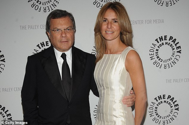 Sir Martin Sorrell, who is worth an estimated £368million, married Cristiana Falcone in 2008 (pictured together in 2009)