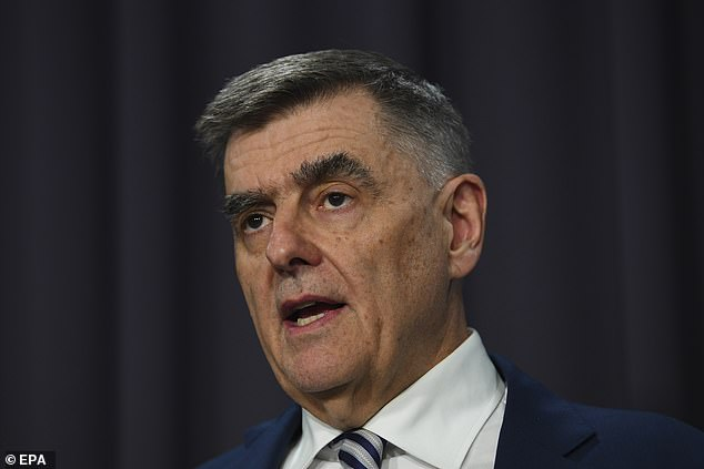 Chief Medical Officer Brendan Murphy (pictured) said the Australian government is preparing for the spread of the coronavirus