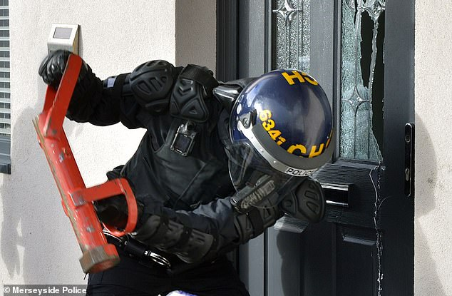 Police stormed 11 properties across northern England and Scotland in dawn raids today targeting county lines drug gangs (one pictured)