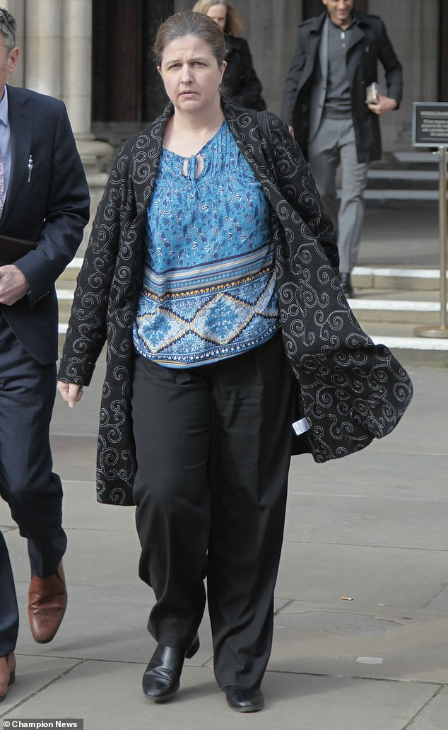 Head teacher Ruth Darvill (pictured outside court) told Central London County Court that the future of the school is under threat. The school fears the Department for Education could close the school if safeguarding issues are found to continue