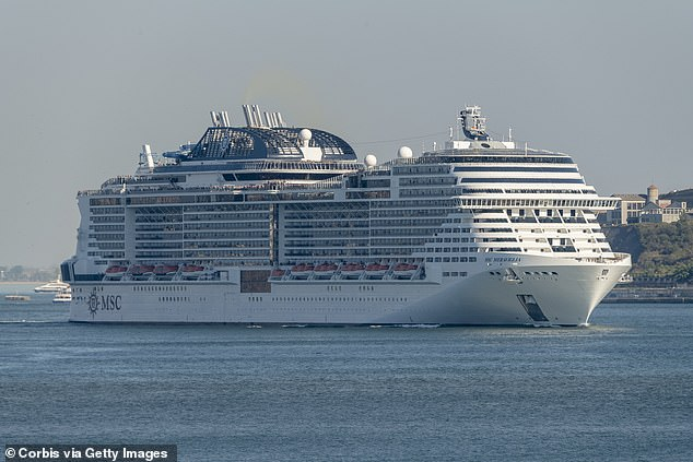 The MSC Meraviglia cruise ship was turned away from port in Ocho Rios, Jamaica, on Tuesday and has already been told it cannot dock in the Cayman Islands over coronavirus fears (file)