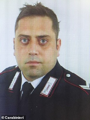 Brigadier Rega (pictured) died from multiple stab wounds