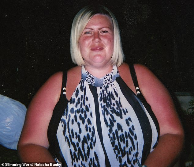 Natasha (pictured before)told how she began comfort eating after her best friend died at the age of 18. Eventually she tipped the scales at21st 7lbs and wore a size 28
