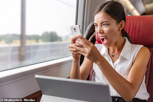 A prototype satellite antenna has been developed that promises to keep commuters online throughout train journeys ¿ and avoid frustrating disconnections, pictured