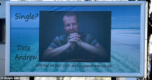 A man has bought a huge £960 roadside billboard (pictured) in Manchester asking for a date