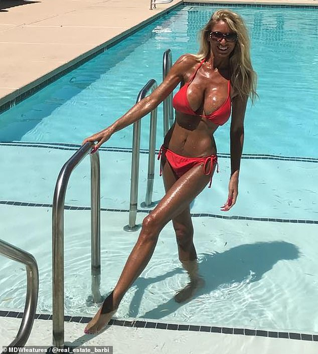Making changes: Las Vegas realtor Jo Ann Munz, 54, has spent $10,650 on achieving the perfect 'revenge body' after discovering her boyfriend was engaged to someone else