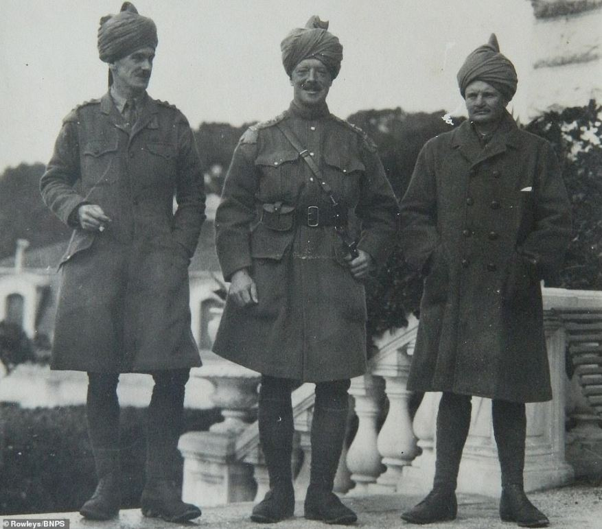 Soldiers of the 28th Light Cavalry, whichprevented infiltration of German and Ottoman agents from Persia into Afghanistan, who aimed to persuade Emir of Afghanistan to rise up in a jihad with tribes in North-West Frontier Province and invade India
