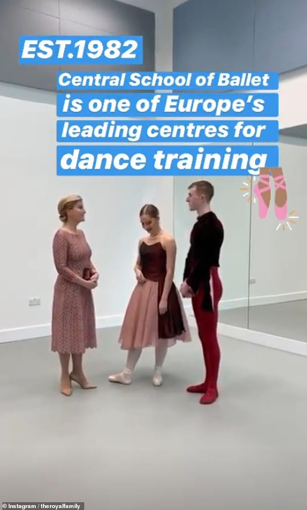 The central school of Dance was established in 1982 and has now become a leading centre for dance training in Europe (pictured: Sophie with dancers)