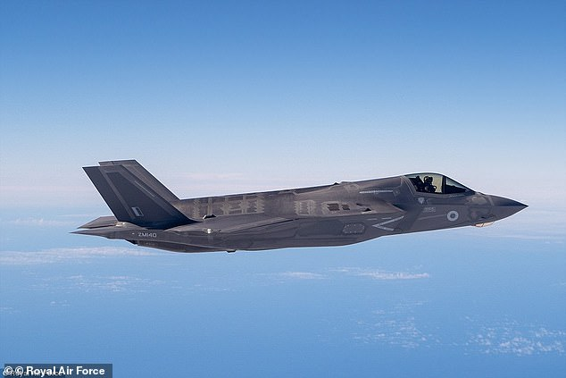 The Ministry of Defence is facing a funding shortfall of up to £13 billion, meaning Britain may not be able to expand its F-35 fighter jet (pictured) fleet after a current contract for 48 is completed